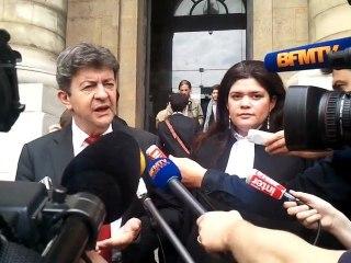 Me Raquel Garrido, avocat de Jean-Luc Mélenchon, devant le Palais de Justice de Paris  (21/06/2012) Partie 2
