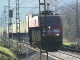 Züge Osterspai, Adria 183 Taurus, Alpha Trains 185, 189, Railion 185, DBAG 185, 101, 2x 427, 428