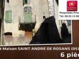 Vente - maison - SAINT ANDRÉ DE ROSANS (05150)  - 200m²