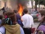 Manifestantes contra la OTAN incendian un hotel en Estrasburgo