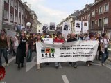 Manifestation contre la création d'un élevage de 1000 vaches et 750 veaux (23.06.2012)
