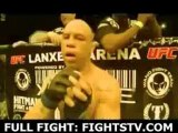 Marcos Vinicius Vina  reacts after knocking out Wagner Galeto Campos