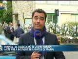 Rennes : un lâché de ballons prévu cet après-midi en mémoire de Killian, le collégien tué