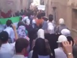 Syria فري برس  دمشق خافوا الله ياعرب مع تحية رآئعة لثوار سوريا   مظاهرة السنانية وسط دمشق الأحد 24 6 2012 Damascus