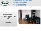 Achat Vente Appartement  Le Cap d Agde  34300 - 35 m2