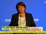 """Martine Aubry : """"Une pensée particulière pour Ségolène Royal"""""""