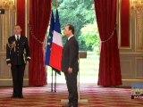 Intronisation du président François Hollande par Jean-Louis Debré