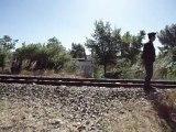 Destruction d'un camp de Roms à Aix-en-Provence près de la Fondation Vasarely