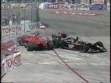 CART Long Beach 1996 Crash Zanardi Rahal + Gordon Fire