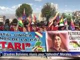 La Paz dans la rue pour accueillir les marcheurs indiens