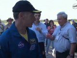 [STS-135] Crew Egress & Walk Around of Space Shuttle Atlantis
