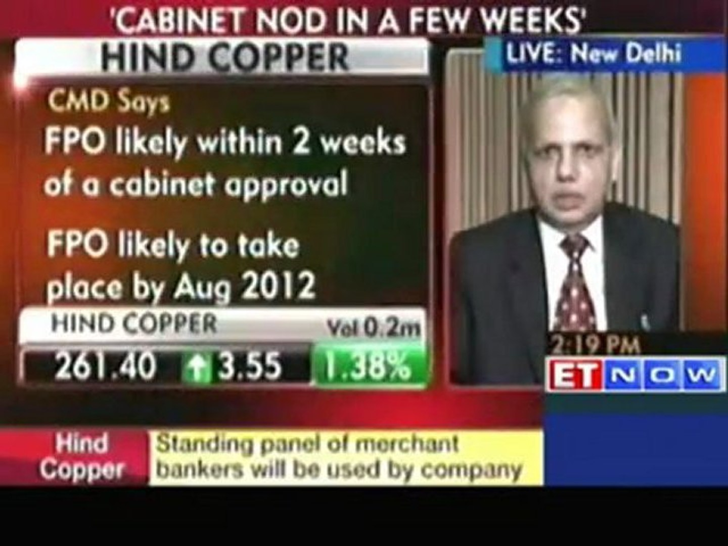 FPO is likely to take the auction route: Hind Copper