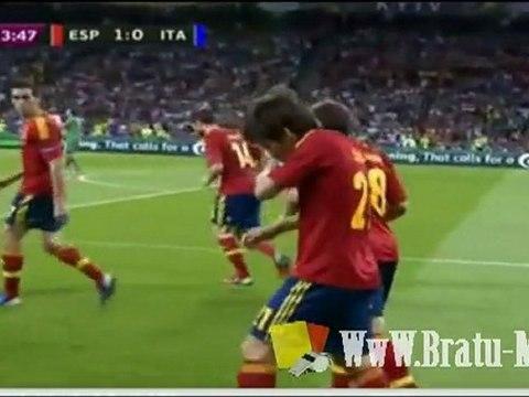 Spain 1-0 Italy Goal David Silva ( Uefa Euro 2012 Final ) © WwW.Bratu-Marian.Ro