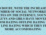 SAFETY PRECAUTIONS ABOUT YOUNG ONLINE DATING