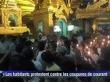 Les Birmans manifestent contre les coupures de courant