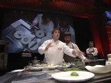 Cuisinez au Naturel - Oignon doux en pil-pil de morue et poivron vert  - par Josean Alija