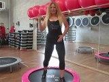 Monya fitness ballare il Merengue e camminare sul trampolino elastico un allenamento completo Monya and Giwa 24