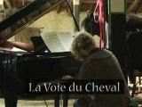 La Voie du Cheval: première rencontre entre Catherine Schneider et Guapo, le cheval mélomane