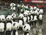 Over 100 giant pandas invade Trafalgar Square