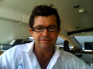 Eric Dumont, capitaine de PlanetSolar - en direct de Majorque, juill.2012-Extrait