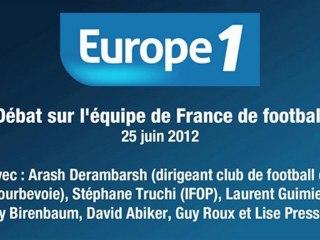 Arash Derambarsh sur Europe 1 - Débat sur l'équipe de France de football - 25 juin 2012