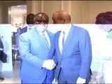 Rencontre du Président gabonais avec le Ministre français de la défense, Jean-Yves Le Drian