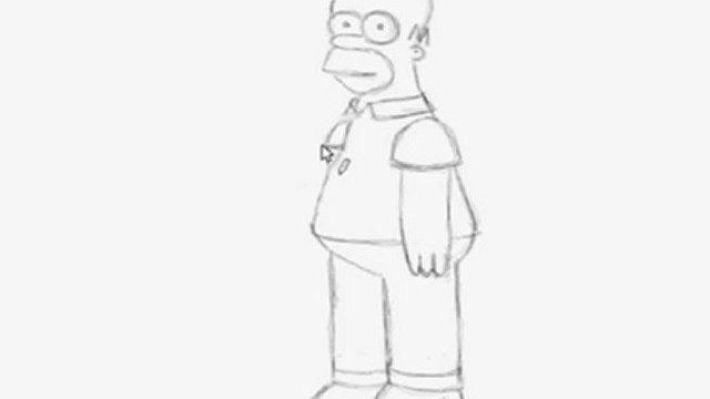 11th drawing Homer Simpson full body (Simpsons)