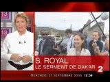 Ségolène Royal au Sénégal - JT 13H