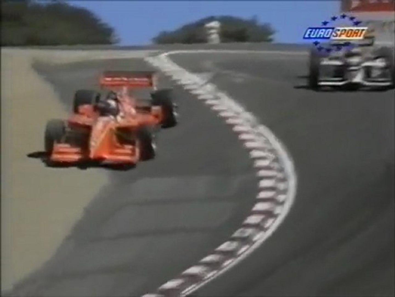 CART Laguna seca 1996 Final lap Zanardi pass Herta in Corkscrew ...