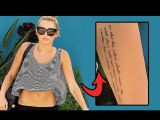 Miley Cyrus Gets Her 15th Tattoo! - Hollywood Style
