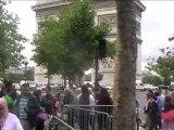 Paris: Des mal-logés manifestent devant le siège de l'USH