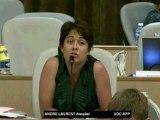 AP 12 juillet 2012 - Intervention d'Annabel ANDRÉ-LAURENT sur Rhône-Alpes, la santé pour tous dans un environnement sain
