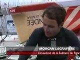 Morgan Lagravière, heureux 2ème de La Solitaire (Vendée)