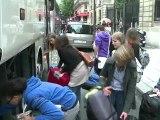 Départ des Jeunes socialistes français pour le camp d'été des Jeunes socialistes européens en Croatie