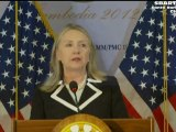 Clinton US Press Conference in Phnom Penh Cambodia