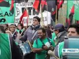 Buenos Aires state workers rally to protest precarious jobs