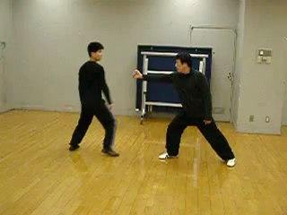 師範による八極拳用法一例
