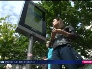 France3 IdF 1920 Ecrans publicitaires numériques à Paris (12 juillet 2012)