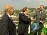 Mai 2012 : remise des clefs du stade Océane au club du HAC