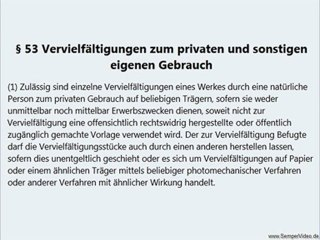 Urheberrecht - Privatkopie