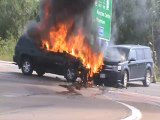 accident 2 vehicles fully engulfed in Flames Moncton