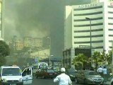 Huge fire engulfs 42-storey tower block in Turkey
