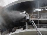 19 juillet 2012, Quartier du Stade, Chalon sur Saône, incendie d'appartement au onzième étage de la tour J