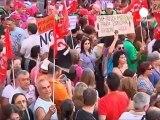 Indignación contra los recortes en España