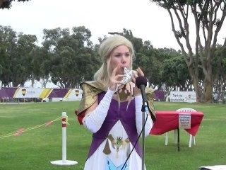Lena Plays Ocarina Zelda Symphony of the Goddesses San Diego