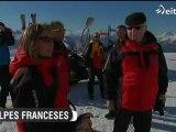 Gran avalancha de nieve en una estación de esquí francesa