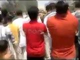 Syria فري برس حماه المحتلة حي كازو مظاهرة في جمعة رمضان النصر سيكتب في دمشق 1 رمضان   20 7 2012 ج1 Hama