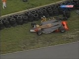 CART Road America 1997 Start Huge crash Tracy
