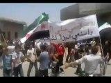 Syria فري برس  درعا إنخل مظاهرة صباحية ردا على اقتحام الأمن للمدينة 22 7 2012 Daraa