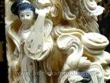 mammoth ivory handcrafted figurine tusk 111 inch #37544